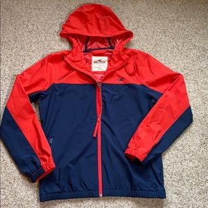Hollister Rain Jacket Windbreaker Size Small